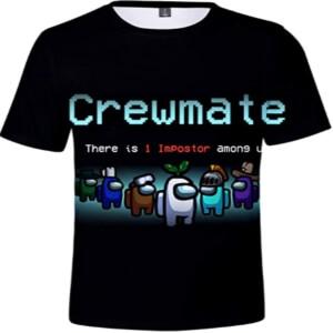 Camiseta manga corta crewmate Among Us