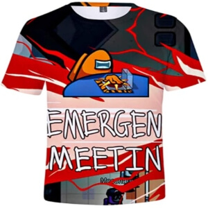 Camiseta manga corta emergency meeting Among Us
