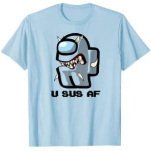 Camiseta manga corta hombre personaje con dientes u sus af Among Us