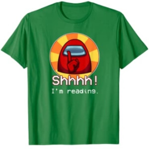 Camiseta manga corta hombre shhhh i'm reading Among Us