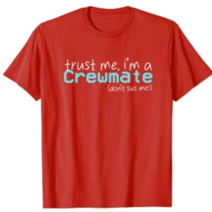 Camiseta manga corta hombre trust me, i'm a crewmate (don't sus me) Among Us