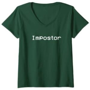 Camiseta manga corta mujer impostor verde Among Us