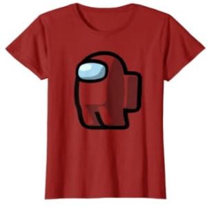 Camiseta manga corta mujer personaje con mochila Among Us