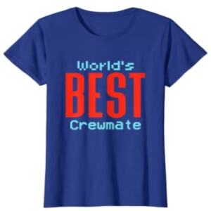 Camiseta manga corta mujer world's best impostor letras rojas Among Us