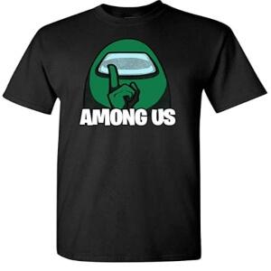 Camiseta manga corta personaje verde Among Us