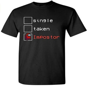 Camiseta manga corta single, taken e impostor Among Us