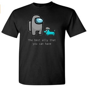 Camiseta manga corta the best ally that you can have Among Us