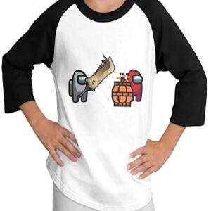 Camiseta manga larga dos personajes Among Us