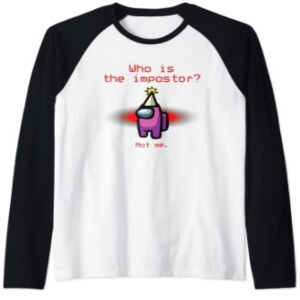 Camiseta manga larga hombre who is the impostor Among Us