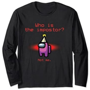 Camiseta manga larga who is the impostor Among Us