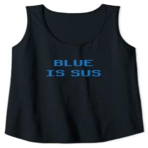 Camiseta sin mangas mujer blue is sus Among Us