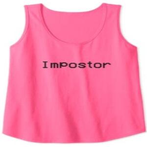 Camiseta sin mangas mujer impostor rosa Among Us