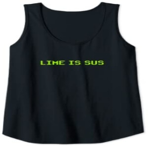 Camiseta sin mangas mujer lime is sus Among Us