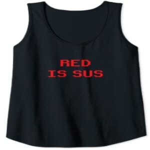 Camiseta sin mangas mujer red is sus Among Us