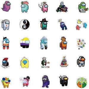 Cincuenta pegatinas diferentes personajes Among Us