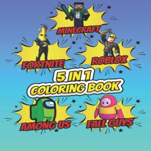 Coloring book de cuatro juegos y de Among Us