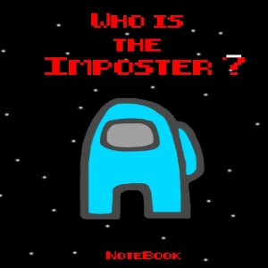 Cuaderno Among Us who is the imposter personaje celeste