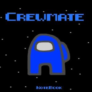 Cuaderno crewmate personaje azul Among Us
