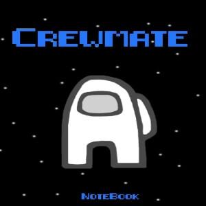 Cuaderno crewmate personaje blanco Among Us