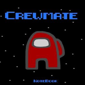 Cuaderno crewmate personaje rojo Among Us