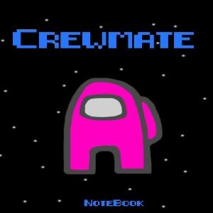 Cuaderno crewmate personaje rosa Among Us