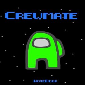 Cuaderno crewmate personaje verde Among Us