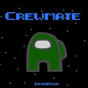 Cuaderno crewmate personaje verde oscuro Among Us
