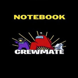 Cuaderno crewmate tres personajes Among Us
