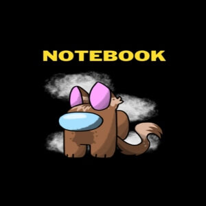 Cuaderno gato personaje marron Among Us
