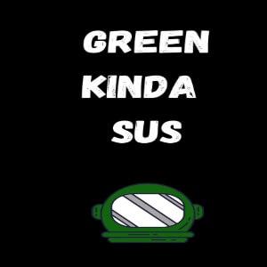 Cuaderno green kinda sus Among Us