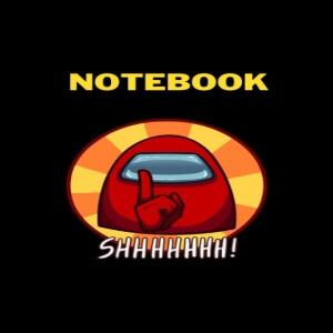 Cuaderno impostor callado Among Us