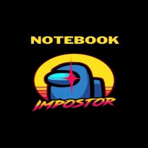 Cuaderno impostor personaje azul Among Us