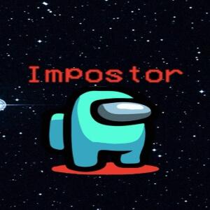 Cuaderno impostor personaje celeste en el espacio Among Us
