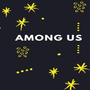 Cuaderno letras con decoración amarilla Among Us