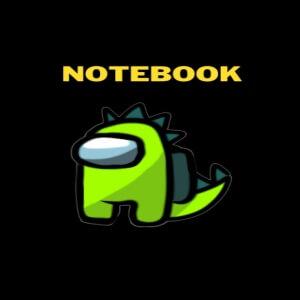 Cuaderno personaje dragon verde Among Us