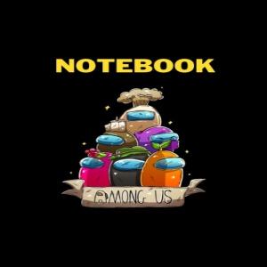 Cuaderno personajes 3d Among Us