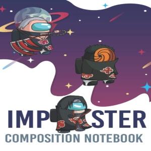 Cuaderno personajes imposters ninjas con pelo Among Us