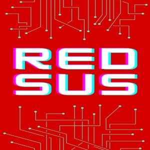 Cuaderno red sus fondo rojo Among Us