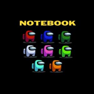Cuaderno todos los personajes en filas Among Us