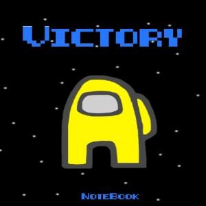 Cuaderno victory personaje amarillo Among Us