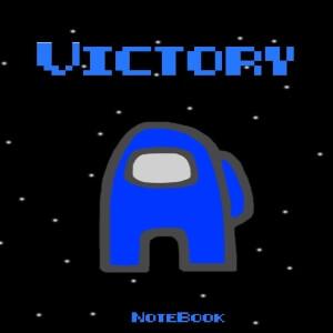 Cuaderno victory personaje azul Among Us