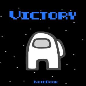 Cuaderno victory personaje blanco Among Us
