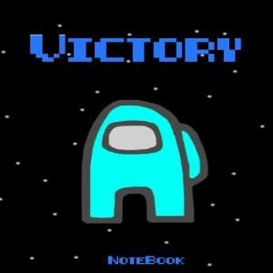 Cuaderno victory personaje celeste Among Us