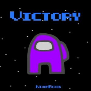 Cuaderno victory personaje morado Among Us