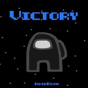 Cuaderno victory personaje negro Among Us