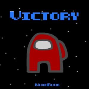 Cuaderno victory personaje rojo Among Us