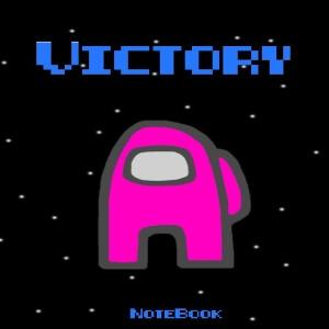 Cuaderno victory personaje rosa Among Us