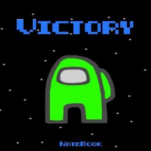 Cuaderno victory personaje verde Among Us