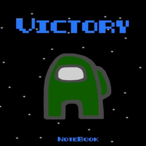 Cuaderno victory personaje verde oscuro Among Us