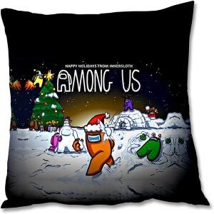 Funda almohada 18x45cm Navidad Among Us